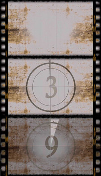 十秒胶片倒计时背景视频素材