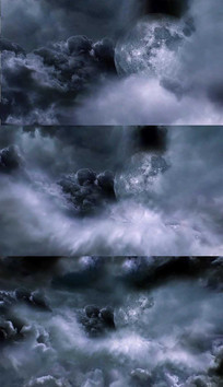 乌云月亮背景视频素材