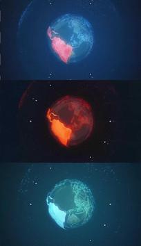 转动的科技地球背景视频素材
