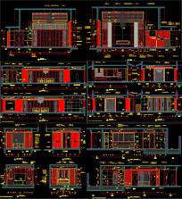 别墅施工图CAD图 CAD