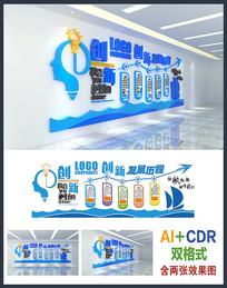 创新企业立体文化墙模板