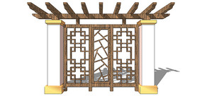 创意中式景观墙