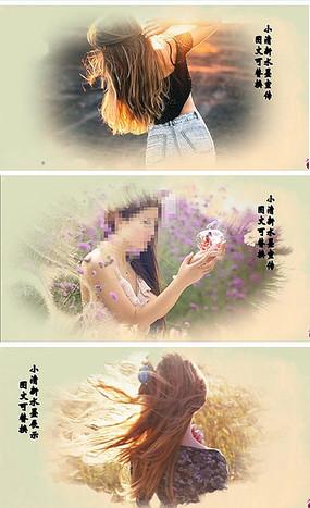 edius水墨中国风写真模板