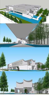 江南风情公共艺术建筑