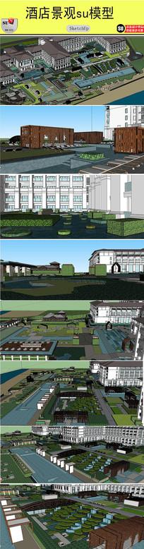 酒店景观设计模型