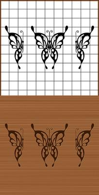 昆蟲蝴蝶矢量雕刻圖案