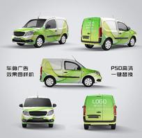 汽车车体广告设计效果图样机