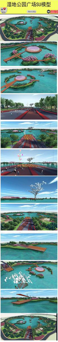 湿地公园设计模型