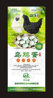 乌鸡蛋展架设计