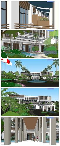 现代风格酒店景观