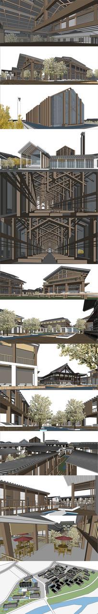 岳西古建筑设计SU模型