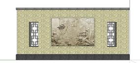 中式浮雕景观墙