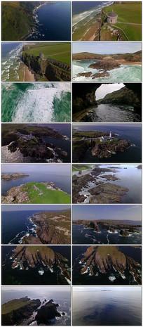 4k美丽的海岸线实拍视频