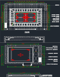 中式吊顶CAD图