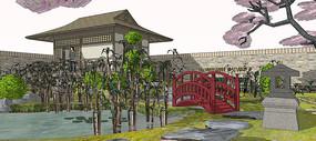 中式公园设计模型