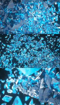 钻石汇聚酷炫AE模板