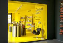 黄色背景玩具店意向
