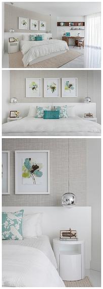 简约风格白色卧室
