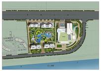 酒店规划平面总图 PSD