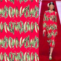 矢量满版豌豆裙子面料