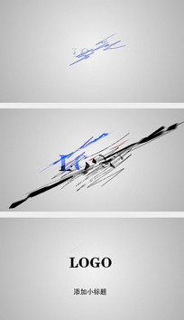 线条涂鸦绘制logo片头AE