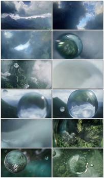 雨滴从云中落下特写镜头
