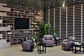 木头元素咖啡店沙发意向