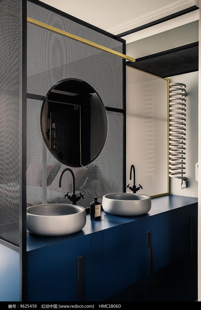 现代时尚室内创意洗手台