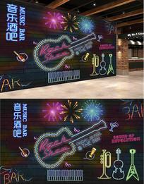 音乐酒吧背景墙设计