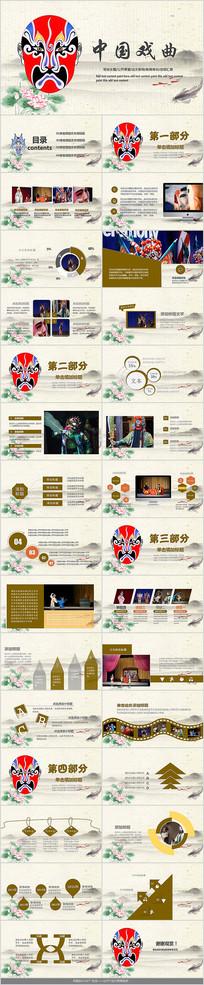 中国变脸戏曲PPT模板