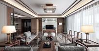 中式优雅室内客厅意向