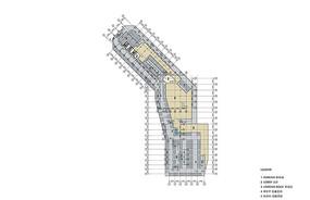 办公酒店建筑地下2层平面图
