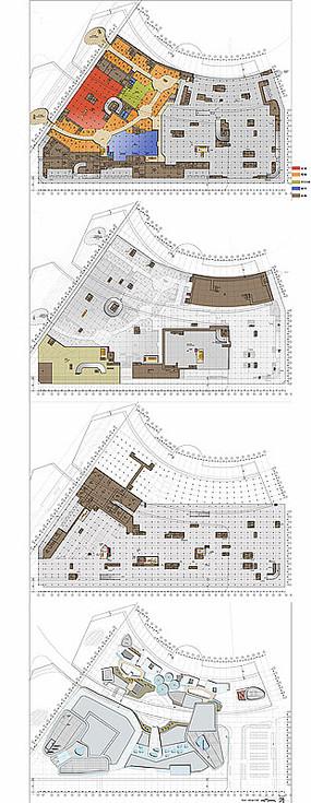地下商场建筑平面图