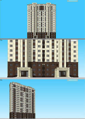高层住宅建筑单体SU