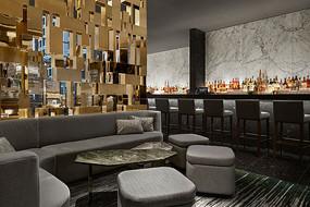 金色装饰元素酒吧意向