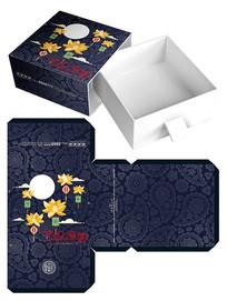 花好月圆月饼礼盒食品包装设计