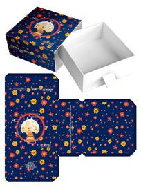 花纹卡通月饼礼盒包装设计