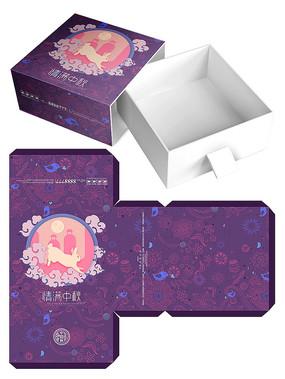 可爱卡通月饼礼盒包装模板