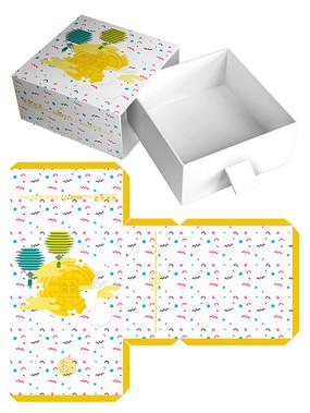 清新月饼包装礼盒模板设计