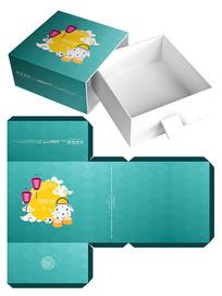 清新月饼礼盒包装设计