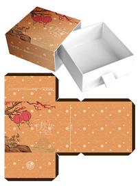 中国风复古月饼包装礼盒设计