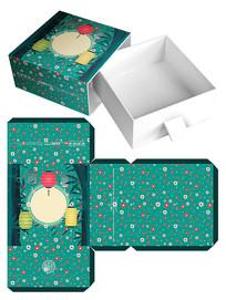 中秋节月饼包装礼盒模板