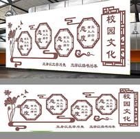 中国风校园文化墙模板
