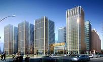 办公建筑透视图 JPG