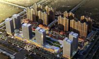 城市广场景观鸟瞰图 JPG