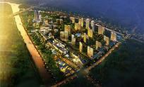 城市规划鸟瞰图 JPG