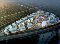 城市商务区景观鸟瞰图 JPG