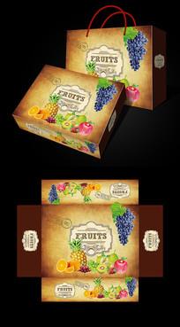 复古水果包装
