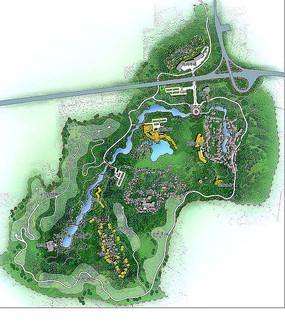 公园景观植物布置图 PSD
