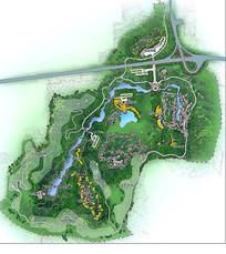 公园景观植物布置图